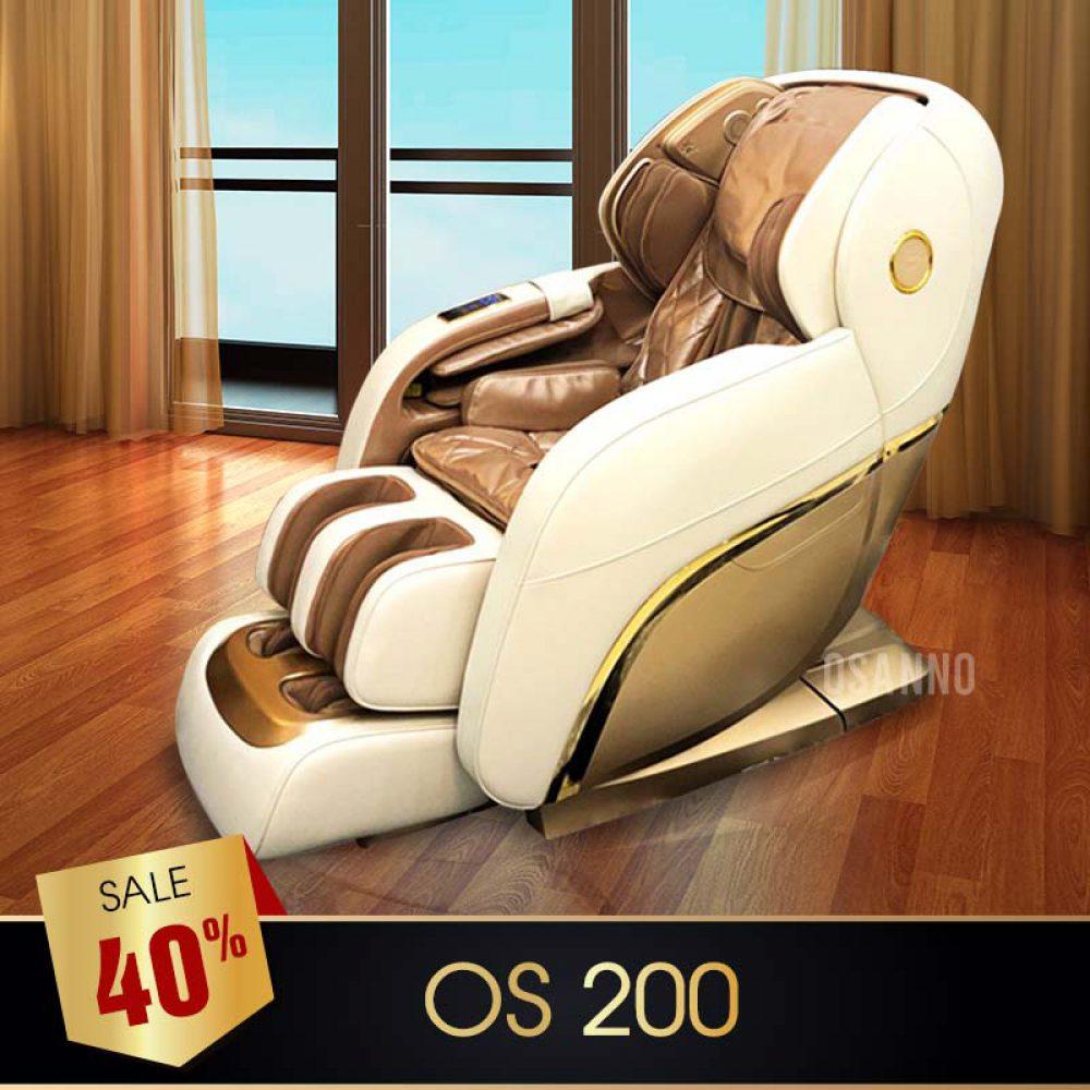 GHẾ MASSAGE OSANNO OS S200 (TRẮNG)