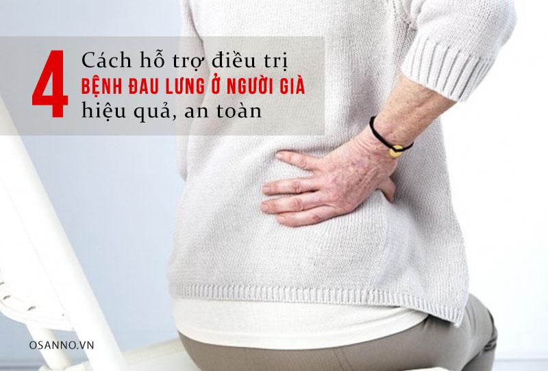 Những cách hỗ trợ điều trị bệnh đau lưng ở người già hiệu quả