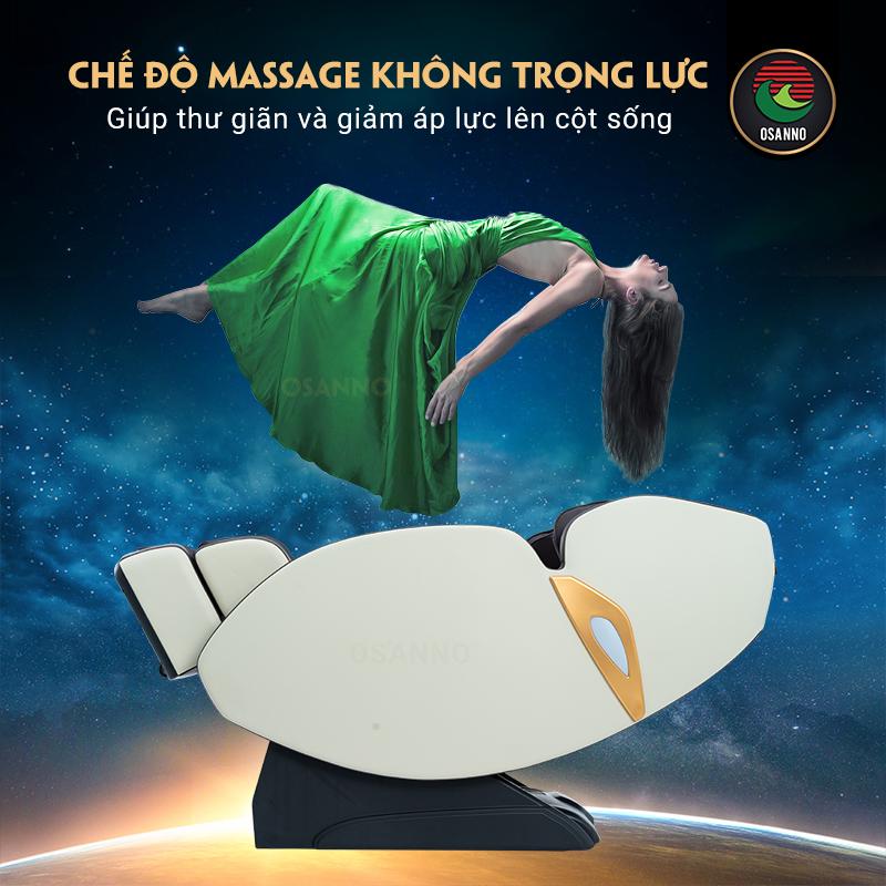 chế độ massage không trọng lực của OS-750