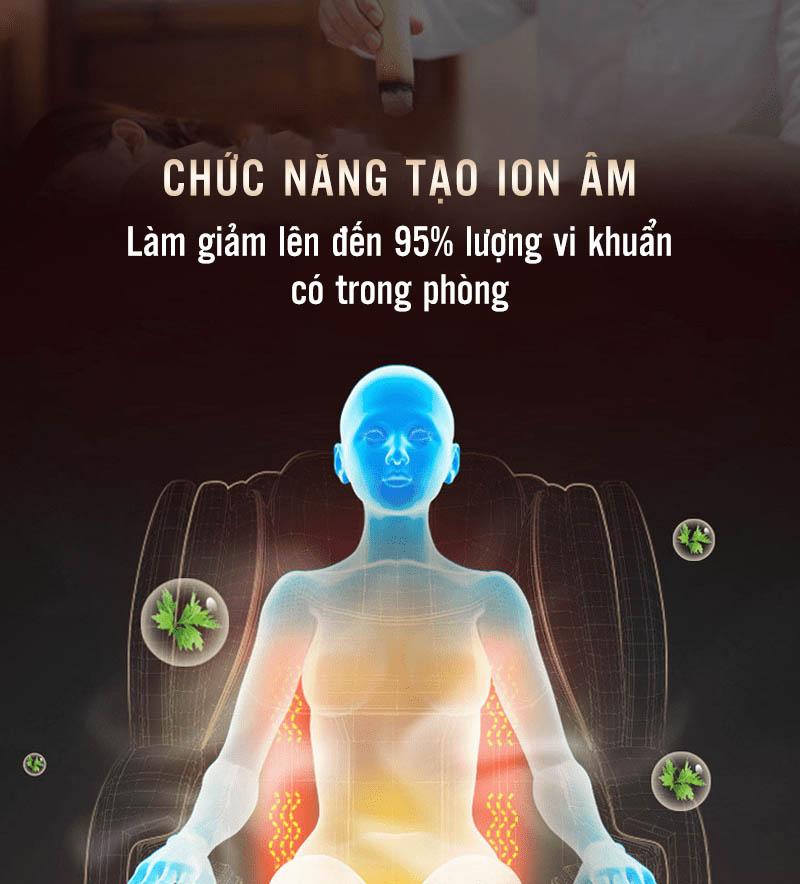 Chức năng lọc không khí khi massage