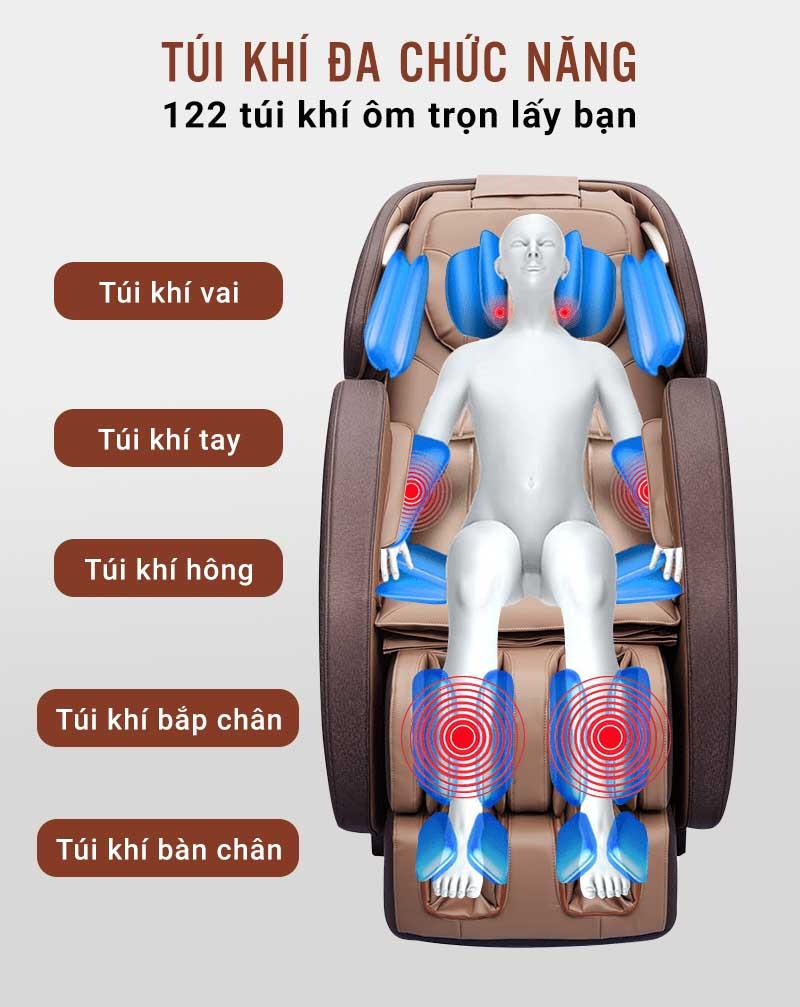 Ôm trọn cơ thể khi massage
