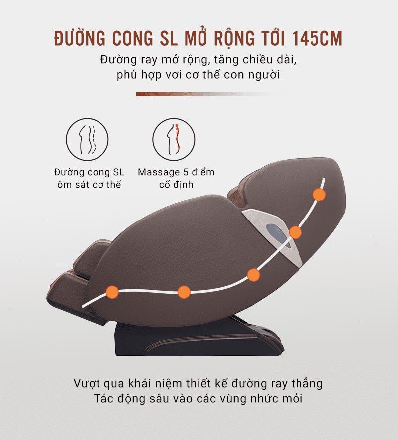 ghế massage toàn thân phù hợp với mọi cơ thể