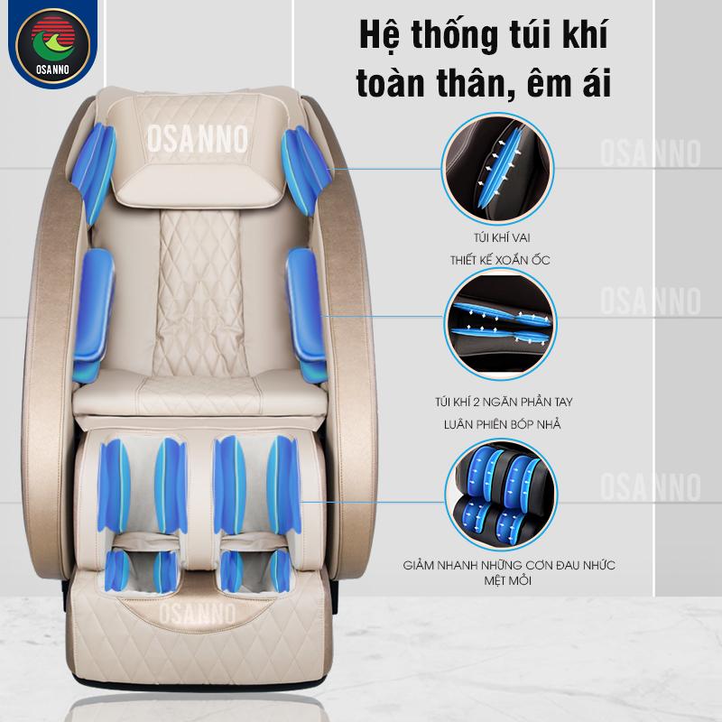 Hệ thống massage không trọng lực của ghế massage OS 100