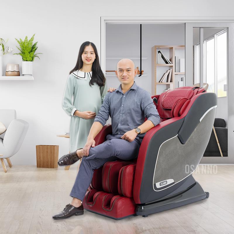 Sử dụng ghế massage Osanno, phương pháp được nhiều gia đình Việt tin dùng