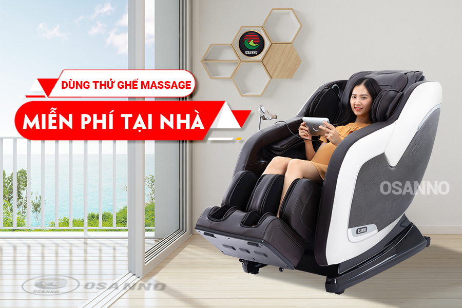 dùng thử ghế massage miễn phí tại nhà