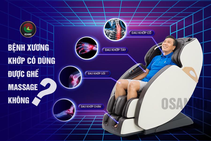 Bệnh xương khớp có dùng ghế massage được không?