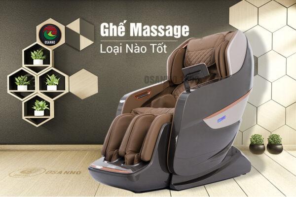 Ghế massage tốt cho sức khỏe là loại nào?