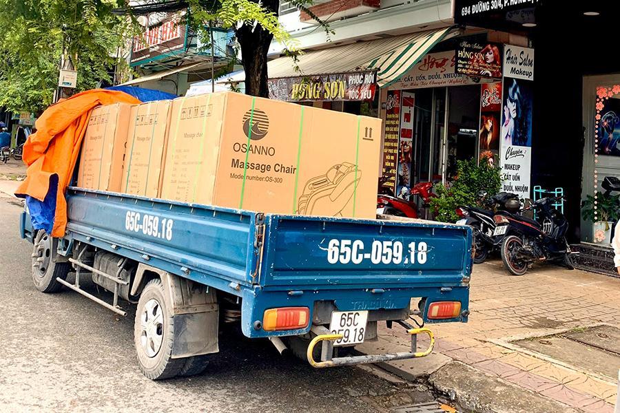 OSANNO giao hàng và lắp đặt miễn phí ghế massage trên toàn quốc.
