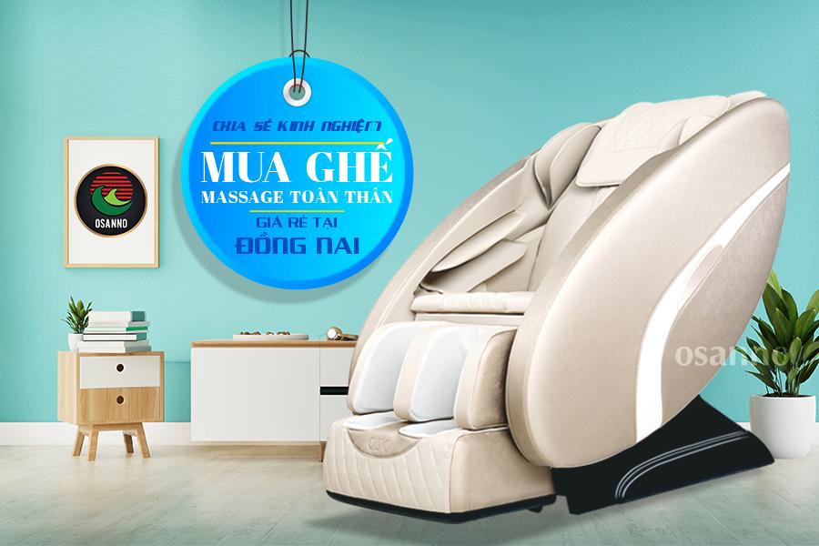 kinh nghiệm mua ghế massage toàn thân giá rẻ tại Đồng Nai