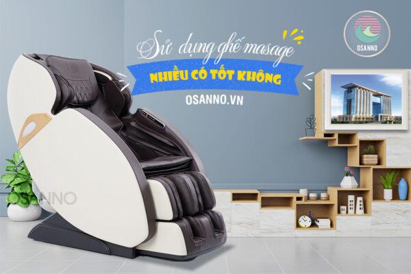 Sử dụng ghế massage điện nhiều có tốt không?