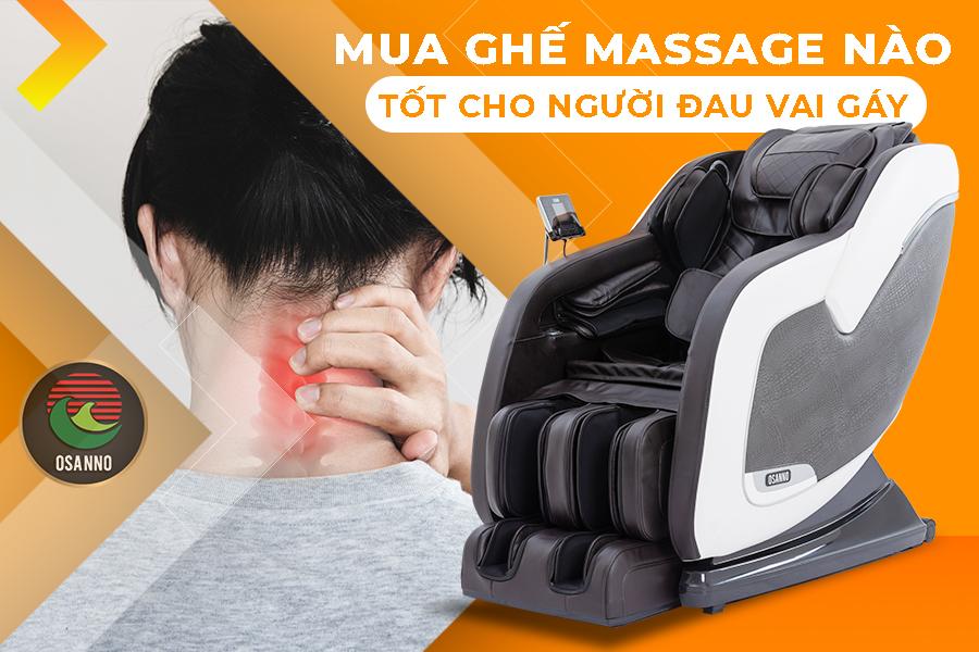 ghế massage cho người đau vai gáy