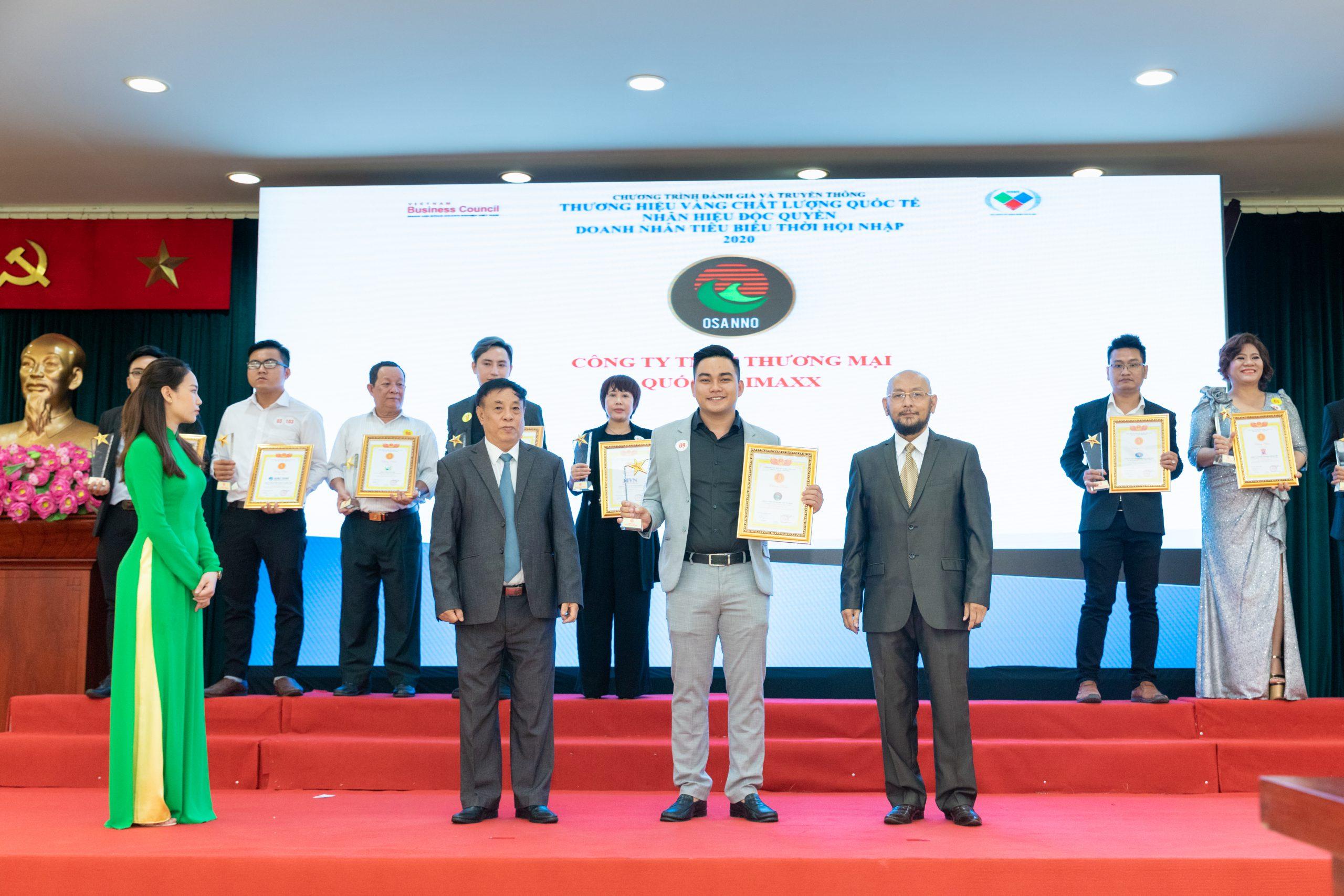 Osanno - Thương hiệu Vàng chất lượng Quốc tế năm 2020