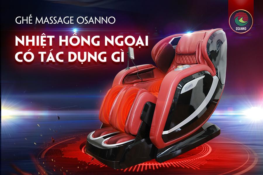 Tính năng nhiệt hồng ngoại ở ghế massage Osanno