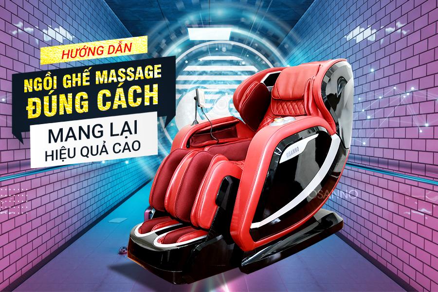 Ngồi ghế massage đúng cách mang lại hiệu quả cao