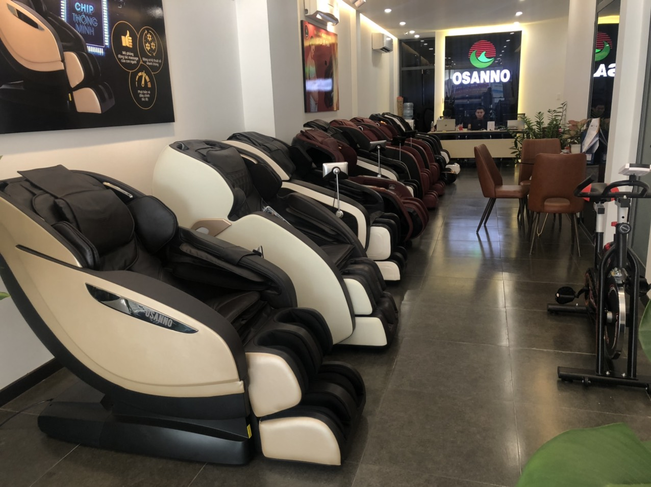 Showroom ghế massage Osanno tại Đồng Nai