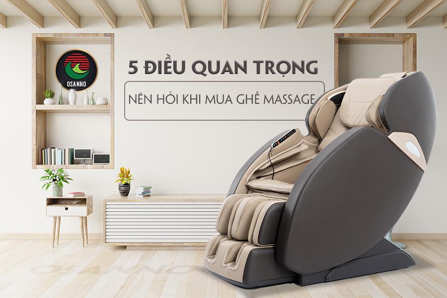 5 điều quan trọng cần hỏi khi mua ghế massage