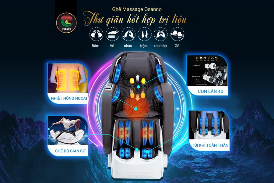 Ghế massage Osanno với công nghệ hiện đại nhất hiện nay