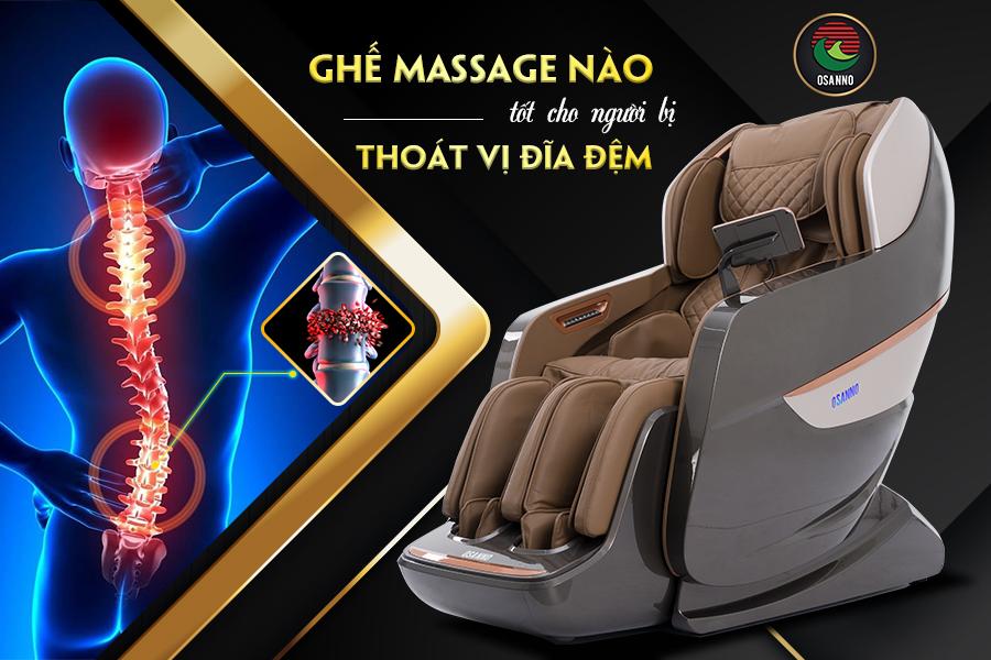 Ghế massage Osanno cho người bị thoát vị đĩa đệm