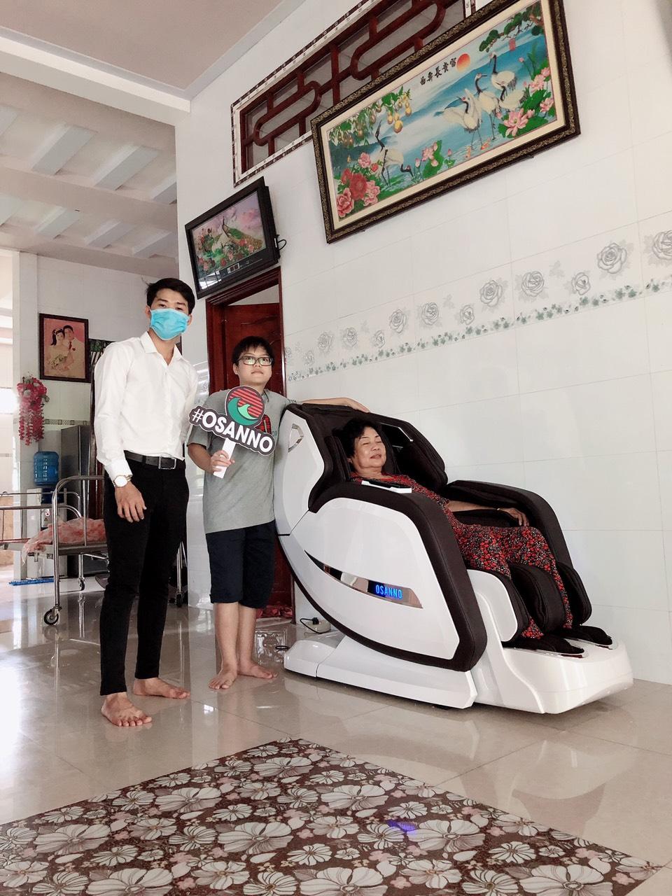 Ghế massage Osanno OS-868 được gia đình Việt tin dùng