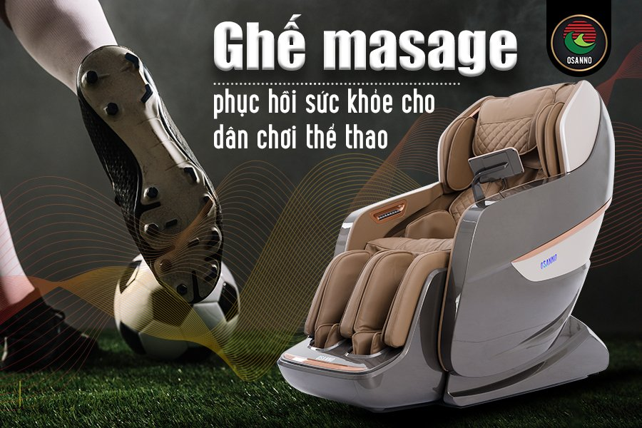 ghế massage và dân chơi thể thao