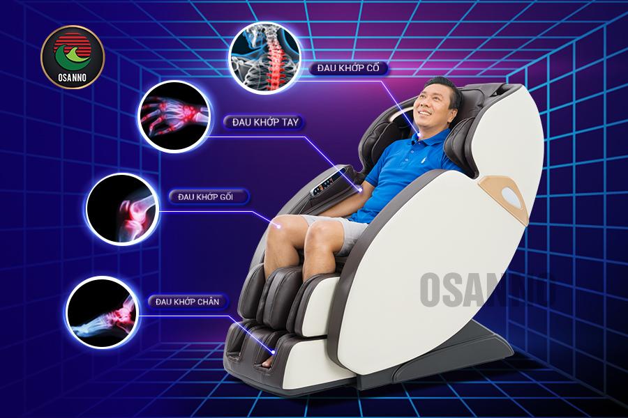 ghế mát xa trị liệu đau xương khớp