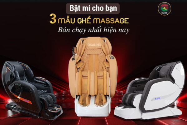 Bật mí cho bạn 3 mẫu ghế massage bán chạy nhất hiện nay