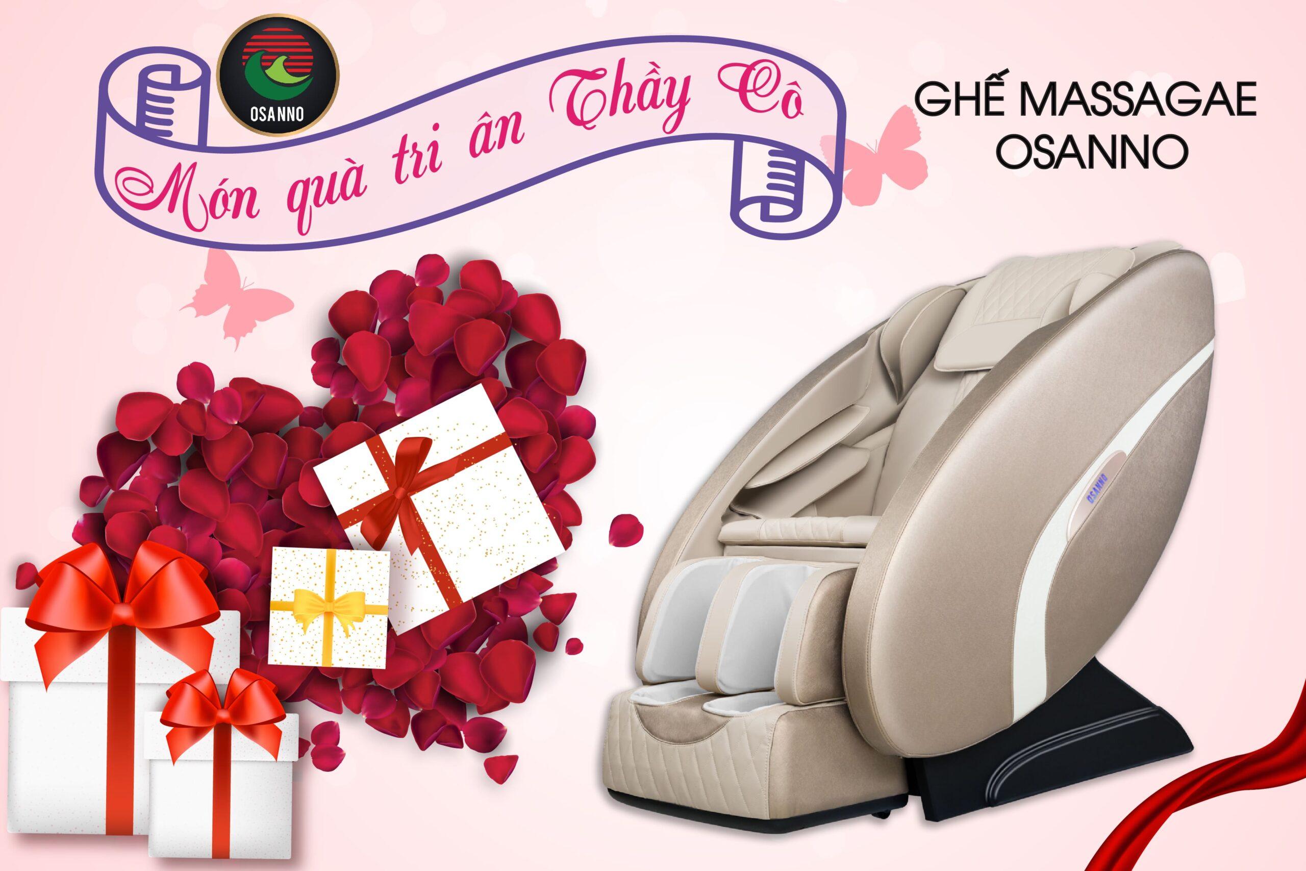 Ghế massage toàn thân Osanno  – Món quà tri ân ý nghĩa cho thầy cô