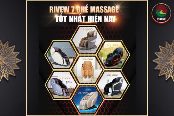 Review 7 loại ghế massage tốt nhất hiện nay