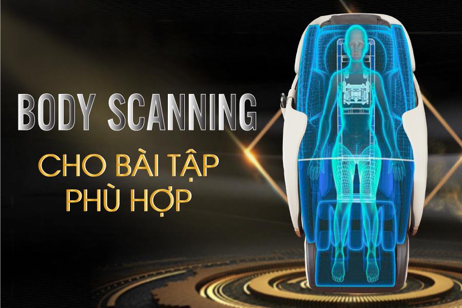 Chức năng scan body tren ghe massage