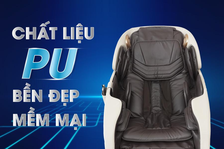 Chất liệu trên ghế massage OS-999