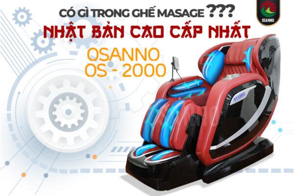 Có gì trong ghế mát xa Nhật Bản cao cấp Osanno OS 2000?