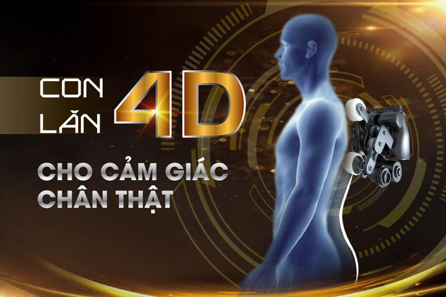 Con lăn 4D cho cảm giác massage như kỹ thuật viên chuyên nghiệp