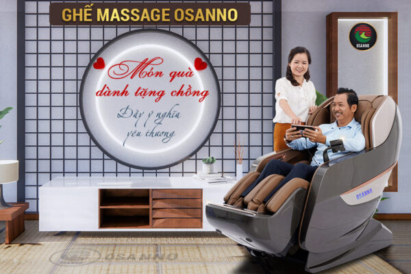 Ghế massage Osanno – Món quà dành tặng chồng đầy ý nghĩa yêu thương