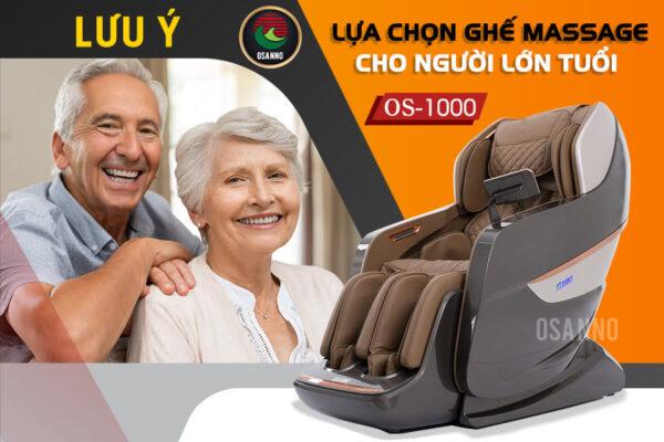 Lưu ý lựa chọn ghế massage cho người lớn tuổi
