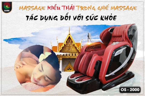 Mát xa kiểu Thái trong ghế matxa và tác dụng đối với sức khỏe