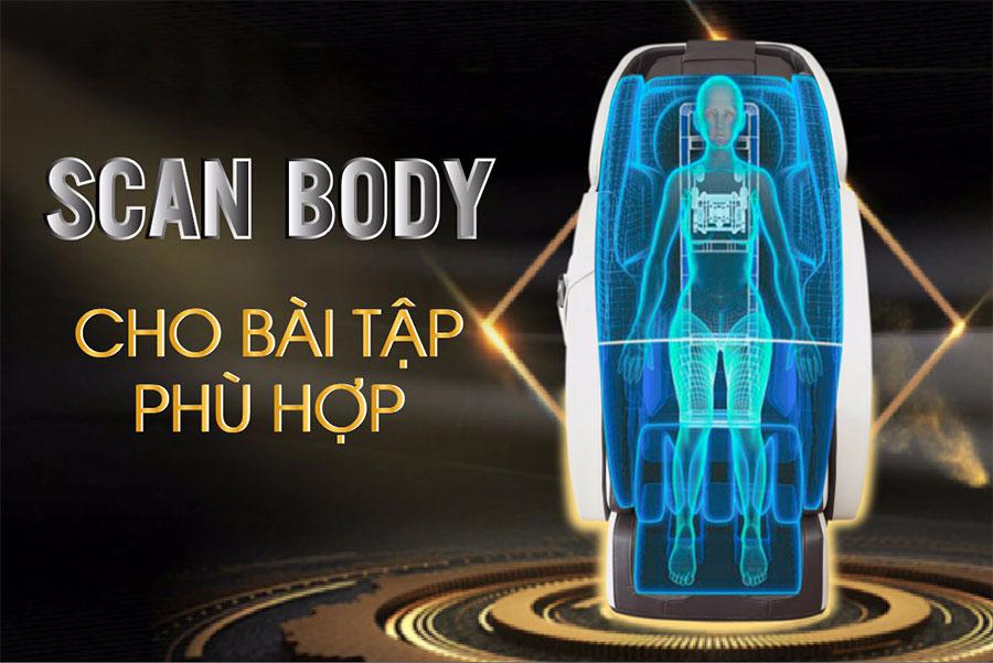 Chức năng body scan trong ghế massage