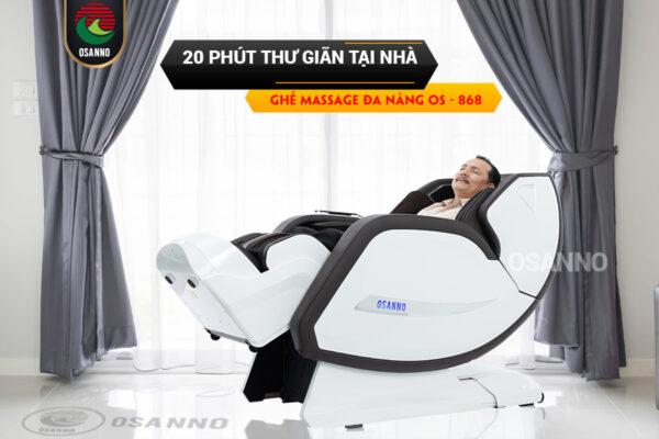 20 phút thư giãn tại nhà với ghế massage đa năng Osanno OS 868