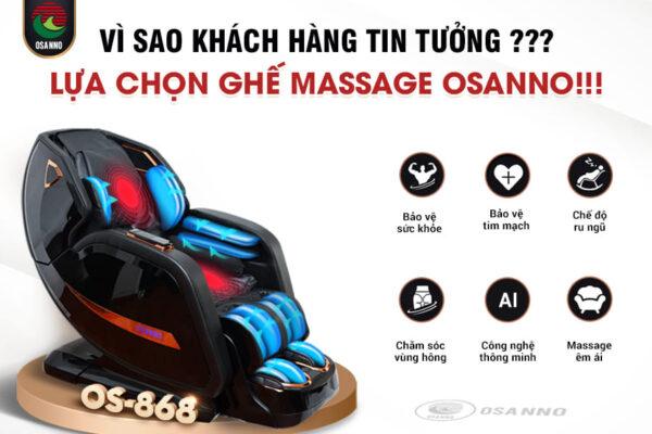 Vì sao khách hàng tin tưởng lựa chọn ghế massage Osanno?