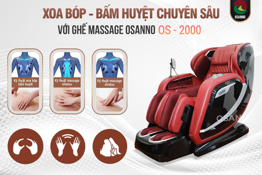 Xoa bóp bấm huyệt với ghế massage
