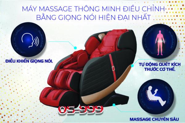 Máy massage điều khiển giọng nói thông minh
