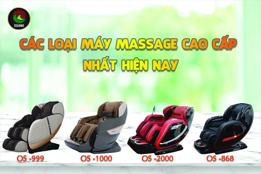 các loại ghế massage chất lượng nhất