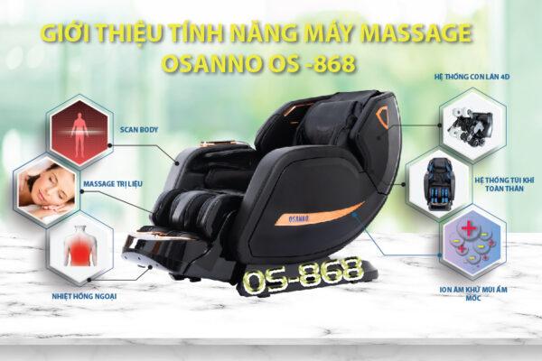 Các tính năng của máy massage toàn thân Osanno Os 868