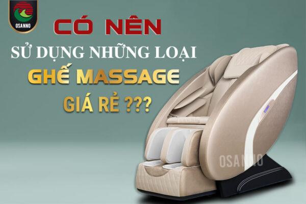 Có nên sử dụng những loại máy massage giá rẻ?