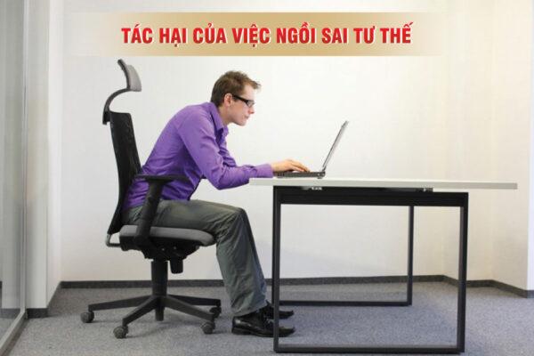 Những tác hại khôn lường của việc ngồi sai tư thế