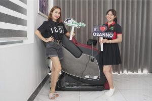 Ốc Thaanh Vân sử dụng ghế massage Osanno