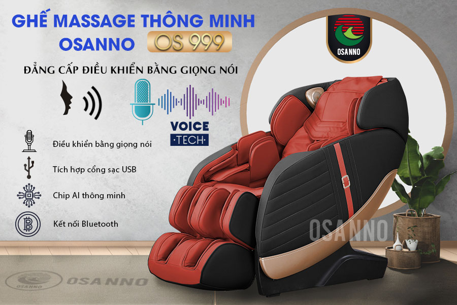 Ghế massage điều khiển bằng giọng nói OS-999