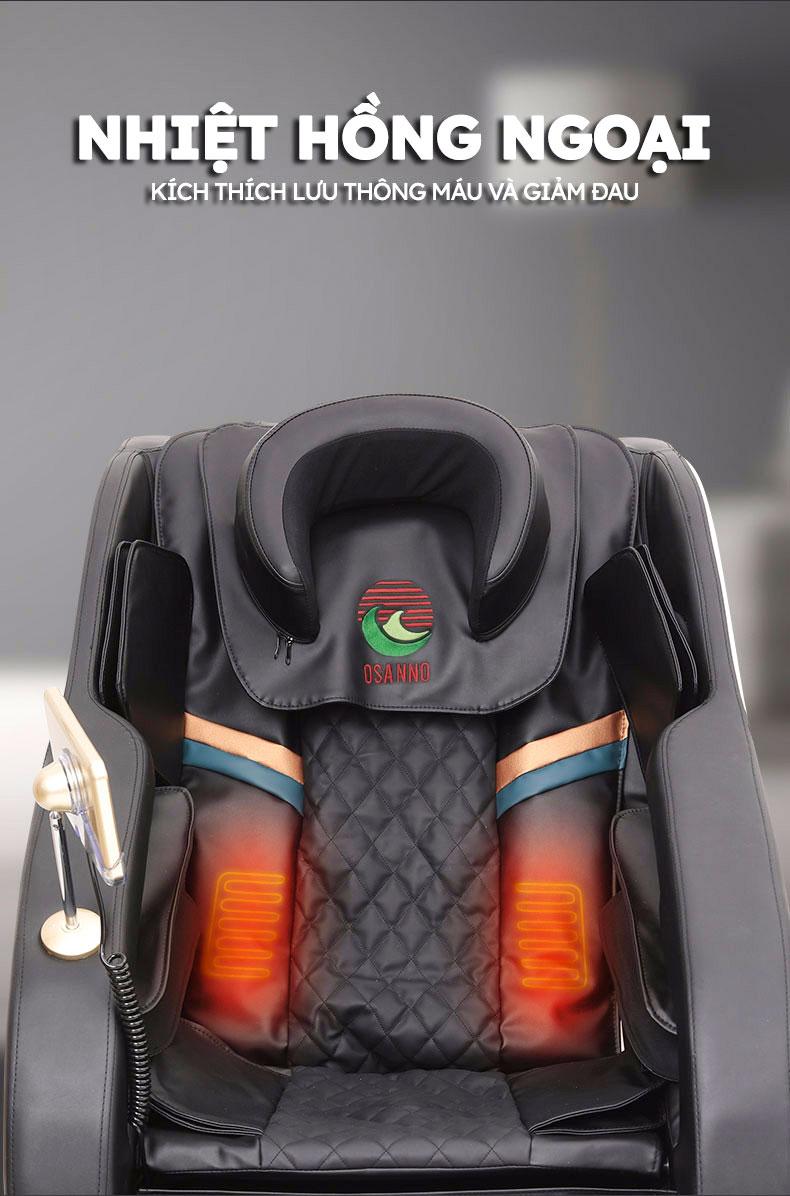 Nhiệt hồng ngoại trên ghế massage Osanno 179