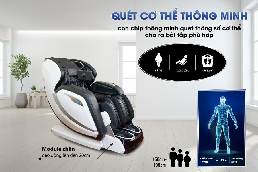 Quét cơ thể trên ghế massage Osanno OS-2000