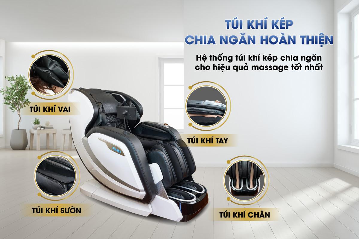Túi khí trên ghế massage Osanno OS-2000