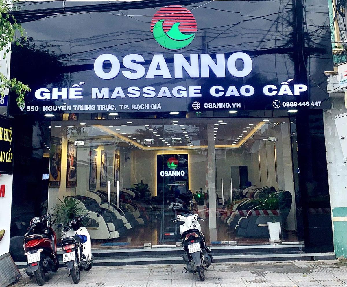 cừa hàng ghế massage osanno chi nhánh Kiên Giang
